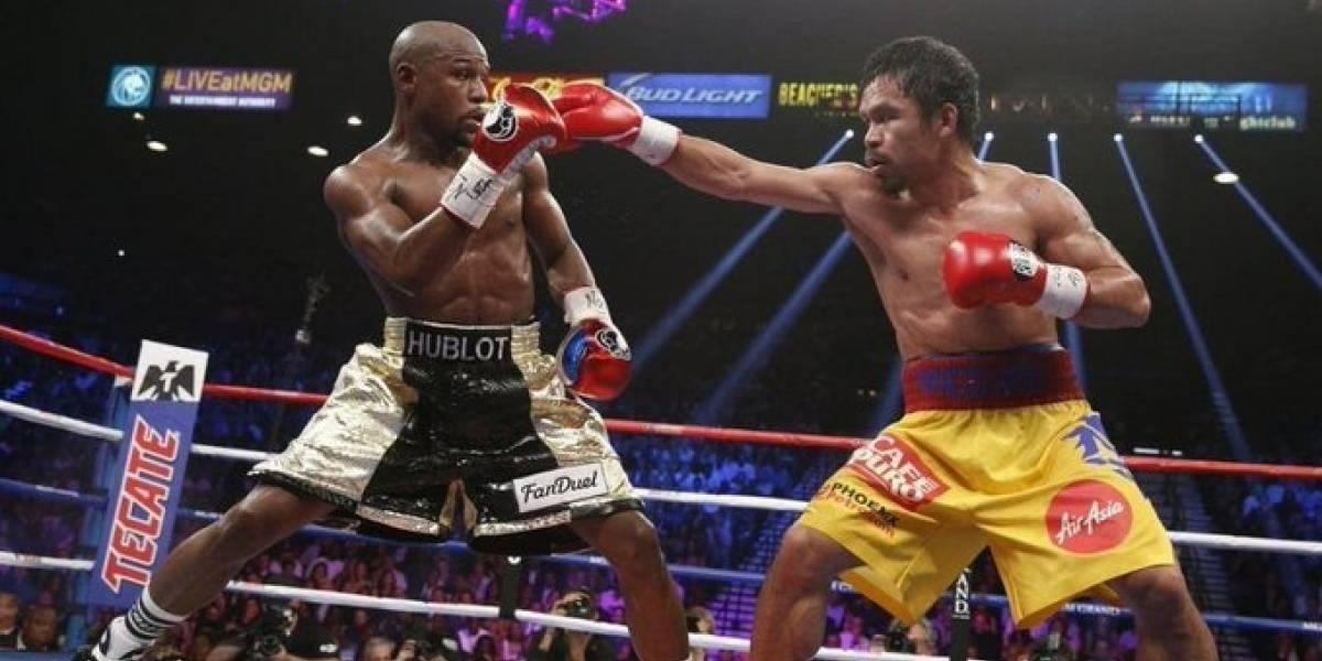 Floyd Mayweather juega con opción de darle la revancha a Manny Pacquiao