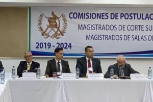primera reunión de comisión de postulación para elección de magistrados de CSJ