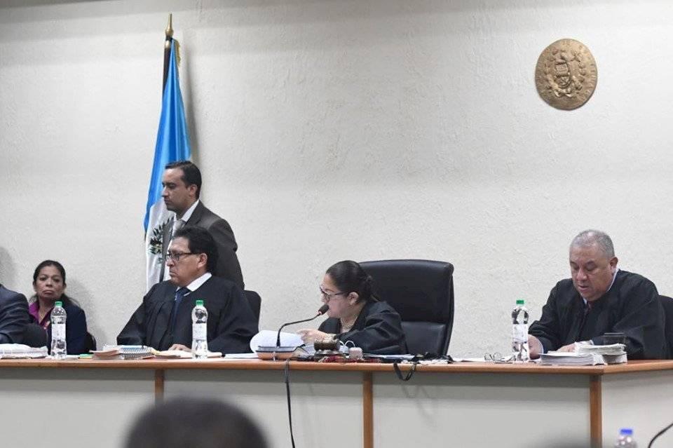 Tribunal que juzgó a los familiares del presidente Jimmy Morales. Foto: Omar Solís