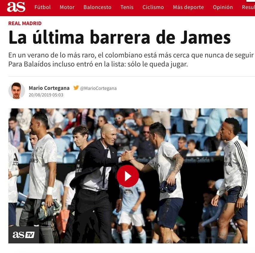 Foto de James y Zidane