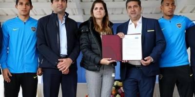 Boca Juniors firma convenio de cooperación con el Gobierno ecuatoriano