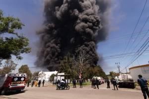 Incendio en fábrica de Morelia