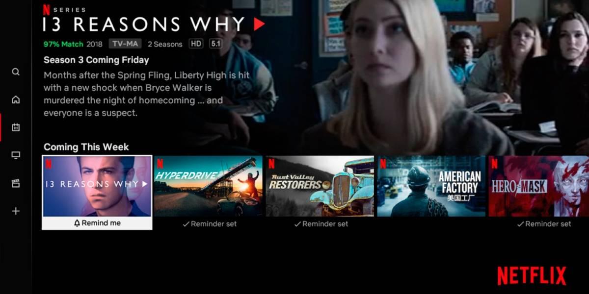 Netflix cambia su interfaz con pestaña de novedades y próximos estrenos