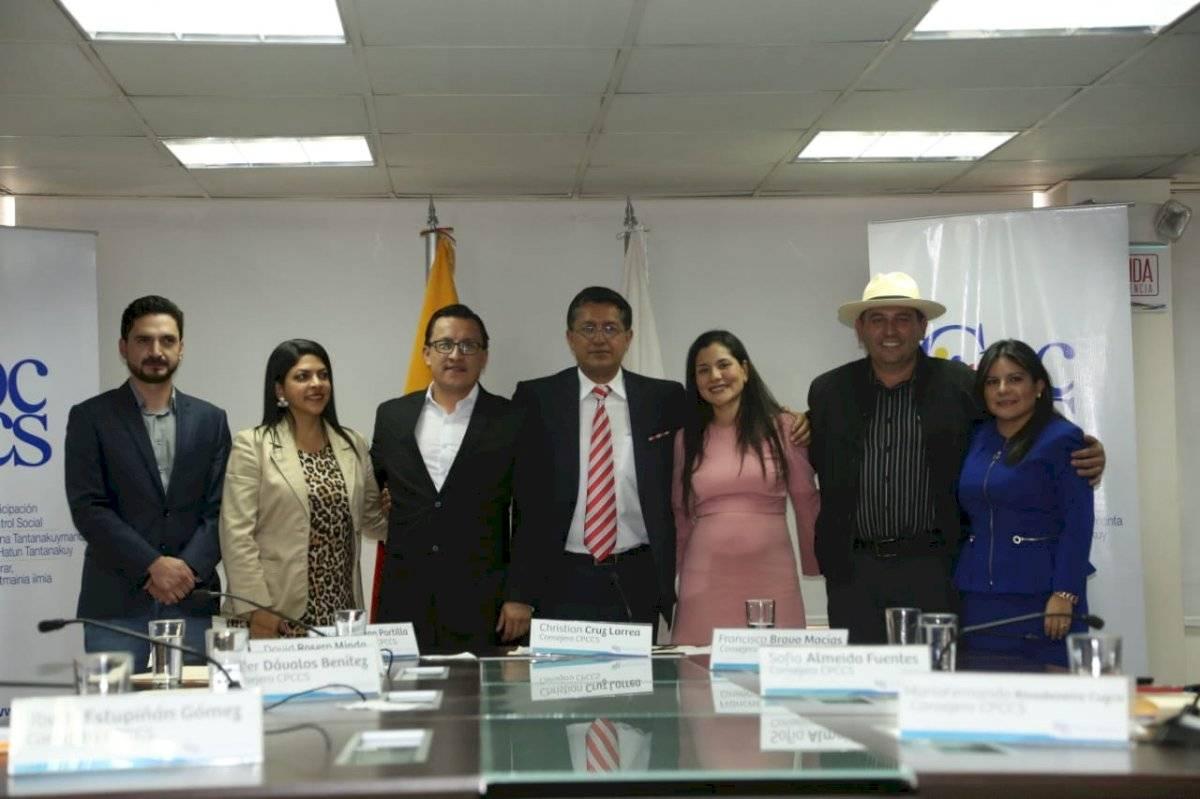 Christian Cruz y Sofía Almeida lideran el nuevo CPCCS