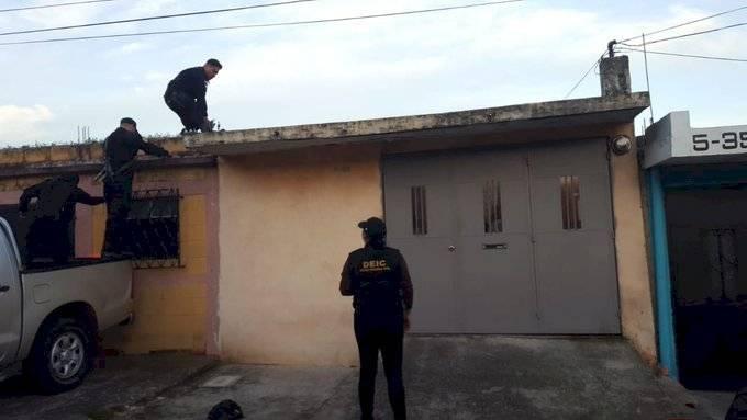 allanamientos contra extorsión en departamento de Guatemala