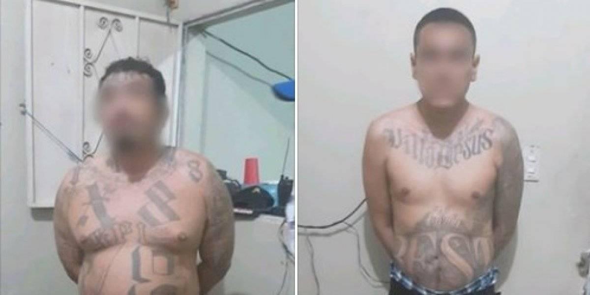 Presuntos pandilleros salvadoreños son capturados en Chiquimula