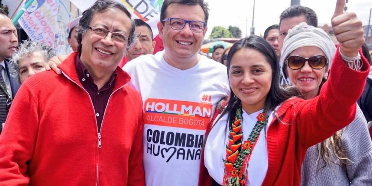 Hollman Morris, a la sombra de Petro durante sus actos de campaña