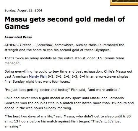ESPN escribió sobre el oro. Reproducción