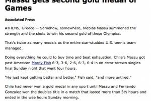 ESPN escribió sobre el oro.