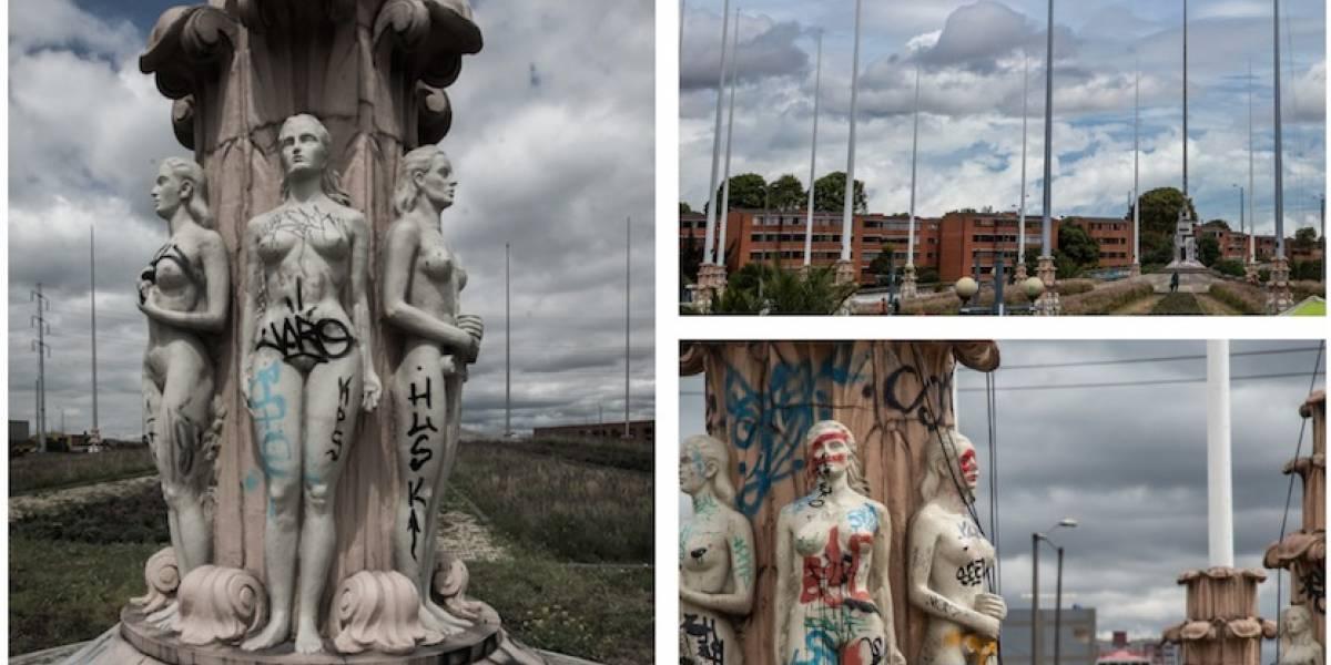 Así avanza la recuperación del Monumento a Las Banderas en Bogotá