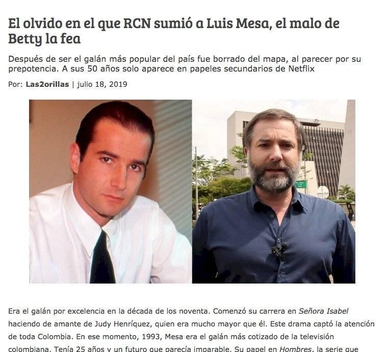 RCN Televisión: El actor de Betty, la fea que no volvieron a