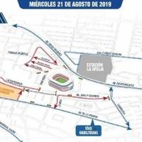Alrededores del estadio Rodrigo Paz Delgado