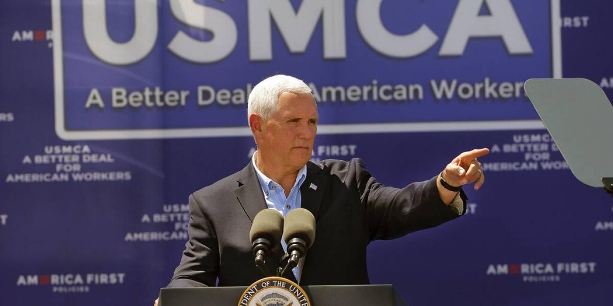 Analizarán Pence y Ebrard pacto para reducir flujo migratorio