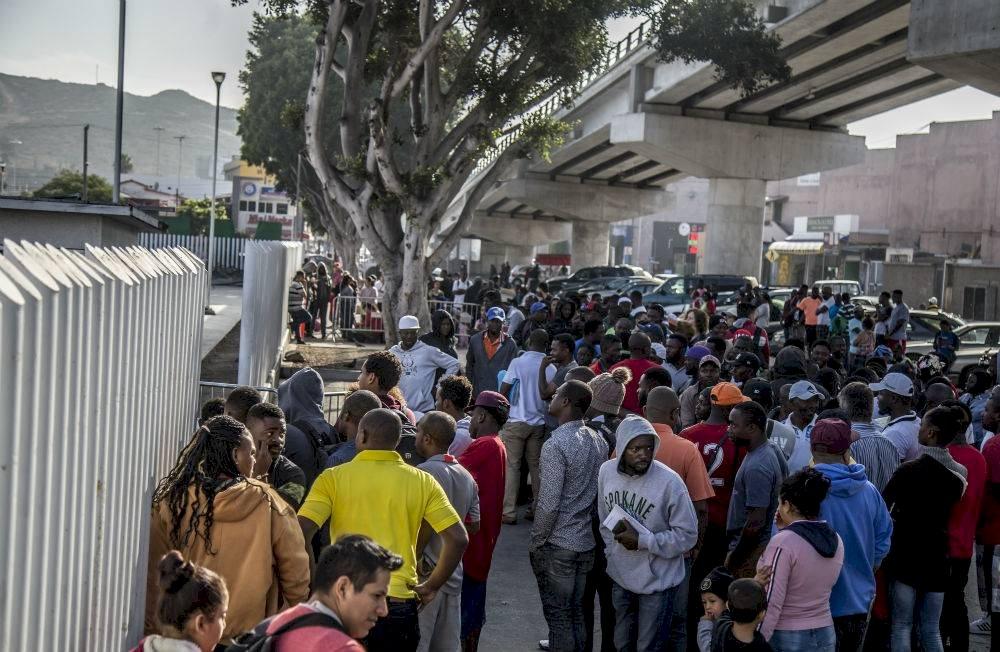 Migrantes en la frontera norte de México