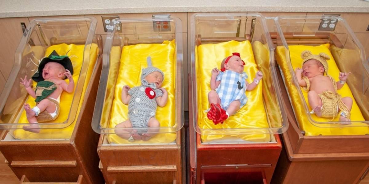 Es lo más adorable que verás hoy: en un hospital vistieron a los recién nacidos con trajes de El Mago de Oz para celebrar los 80 años de la película