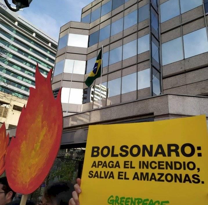 Protesta ambientalista en Santiago