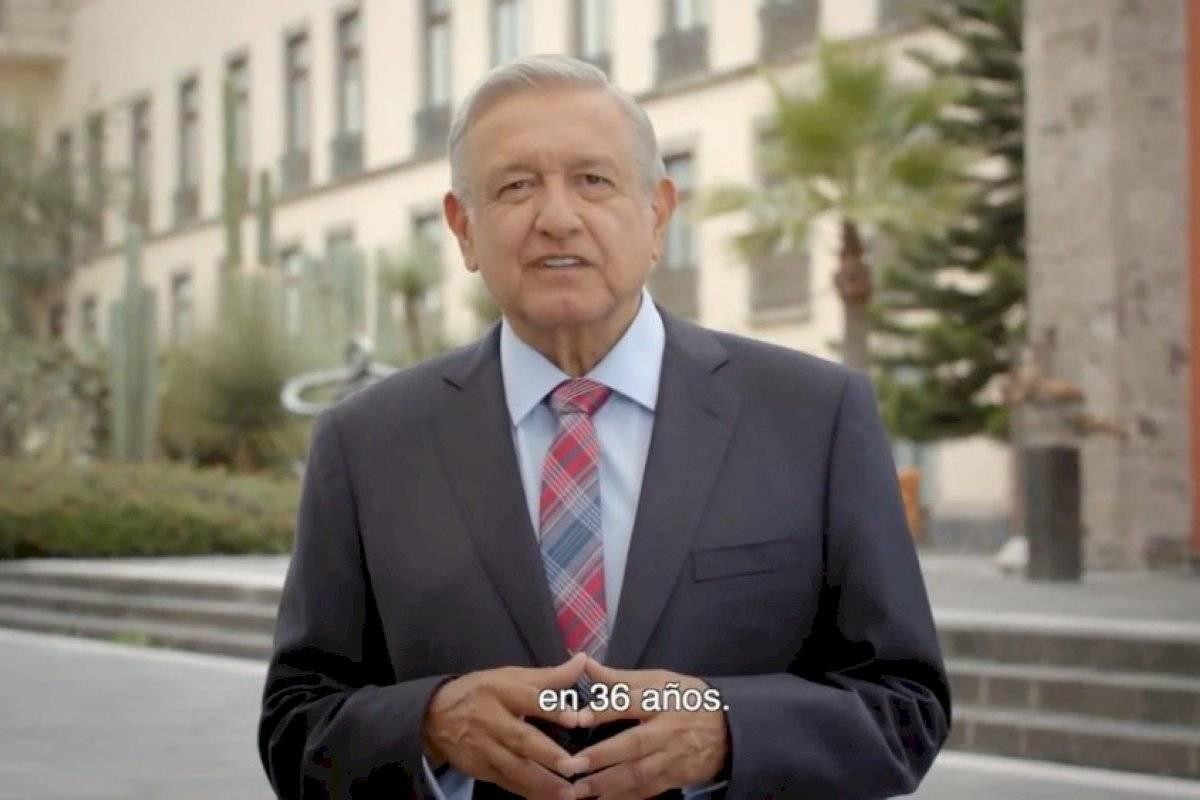 Inician mensajes de AMLO rumbo a primer informe de gobierno