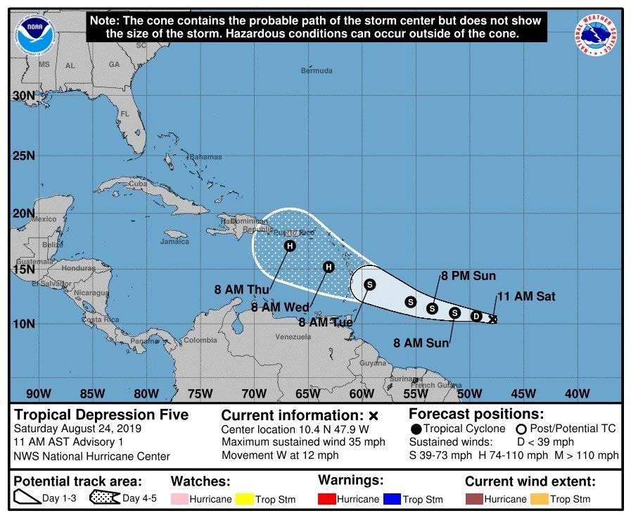 Pronósticos indican fortalecimiento de la tormenta tropical Dorian en el Atlántico