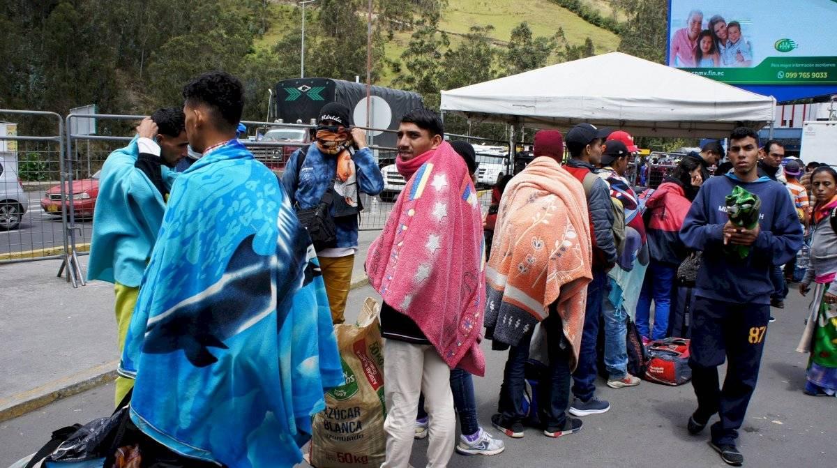 7.000 venezolanos llegan a frontera de Ecuador y Colombia EFE