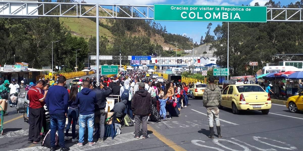 Visa humanitaria: Calamidad pública en paso fronterizo de Colombia con Ecuador por venezolanos