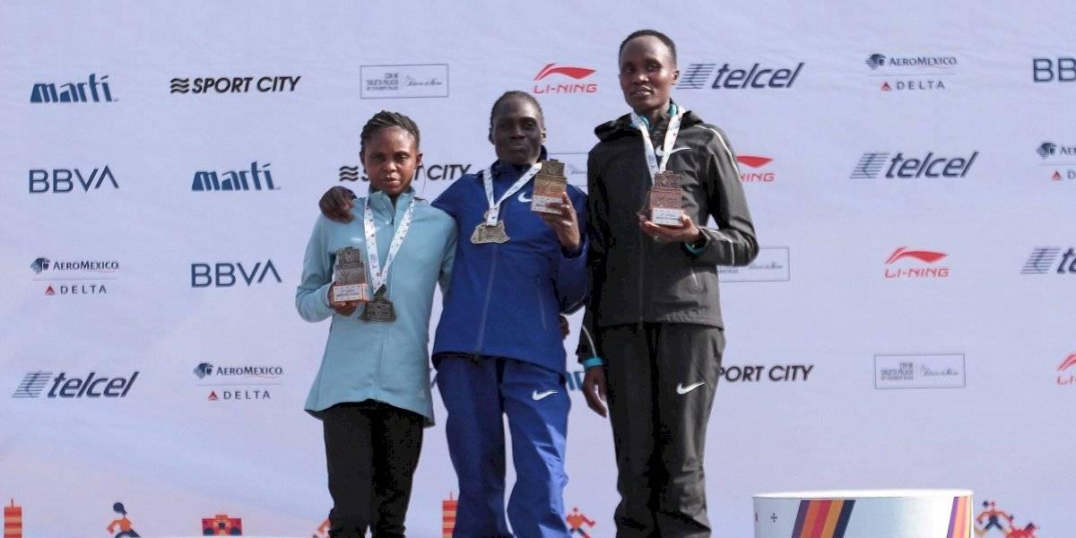 ¡Nuevo récord! Vivian Kiplagat gana el Maratón de la CDMX en la rama femenil