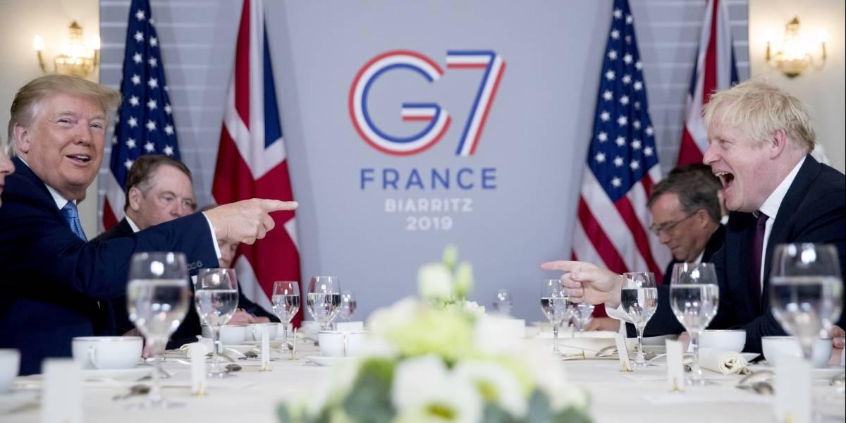 Trump le manda un salvavidas a su amigo Johnson en el G7: EEUU promete acuerdo comercial a Reino Unido tras Brexit