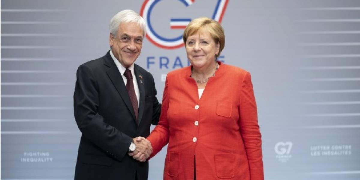 Piñera ya se reunió con Merkel: estas son las citas del Presidente chileno en la cumbre G7
