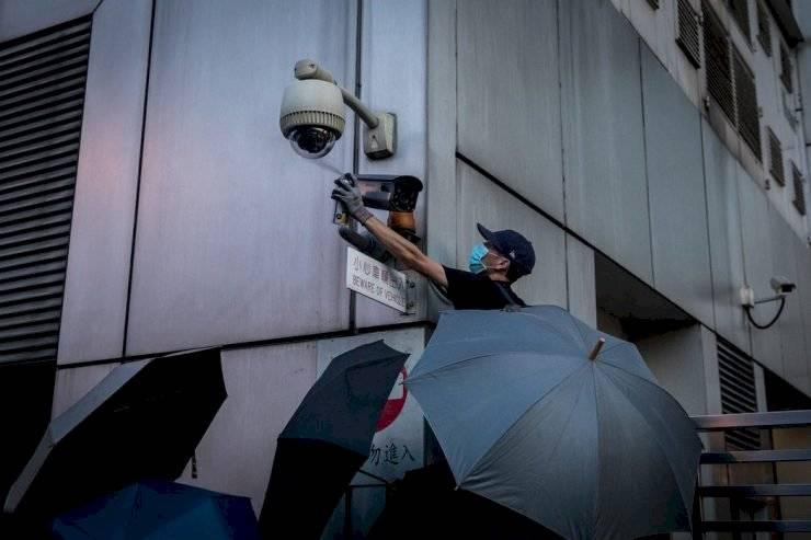 Hong Kong China manifestantes