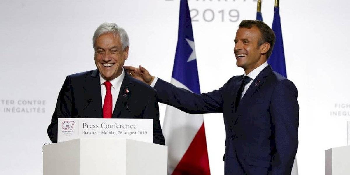 Piñera y Macron anuncian ayuda del G7 por US$20 millones para la Amazonas