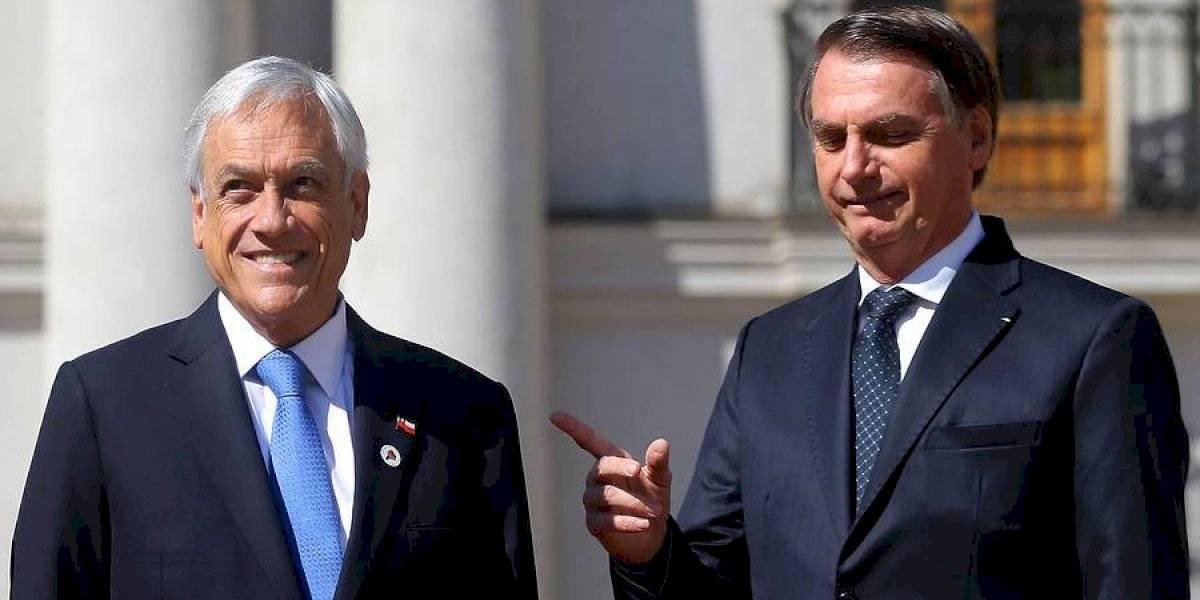 Tras el G7: Piñera hace escala en Brasil y se reúne con Bolsonaro para abordar los incendios que devastan el Amazonas