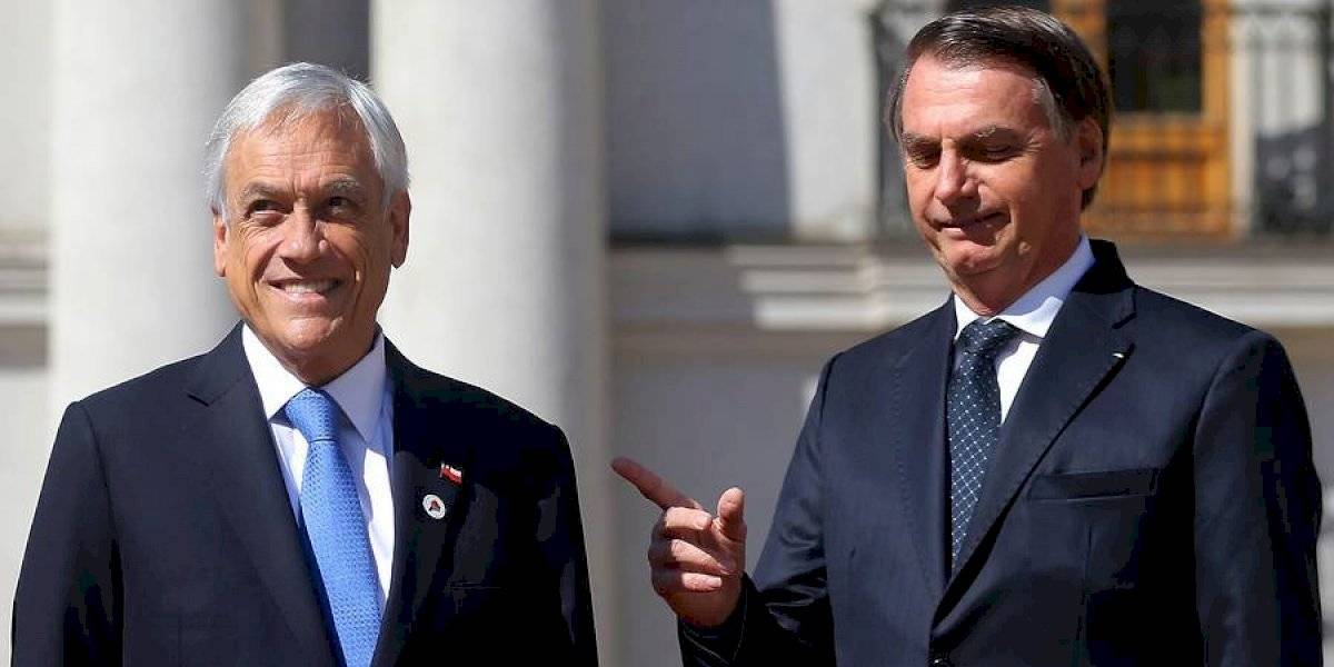 """Piñera sale en defensa de Bolsonaro tras devastación en el Amazonas: """"Está haciendo todo lo posible para combatir estos incendios"""""""