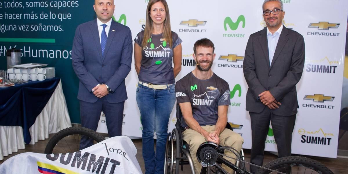 """Chevrolet y Movistar presentan el proyecto """"One More Summit"""" de Sebastián Carrasco"""