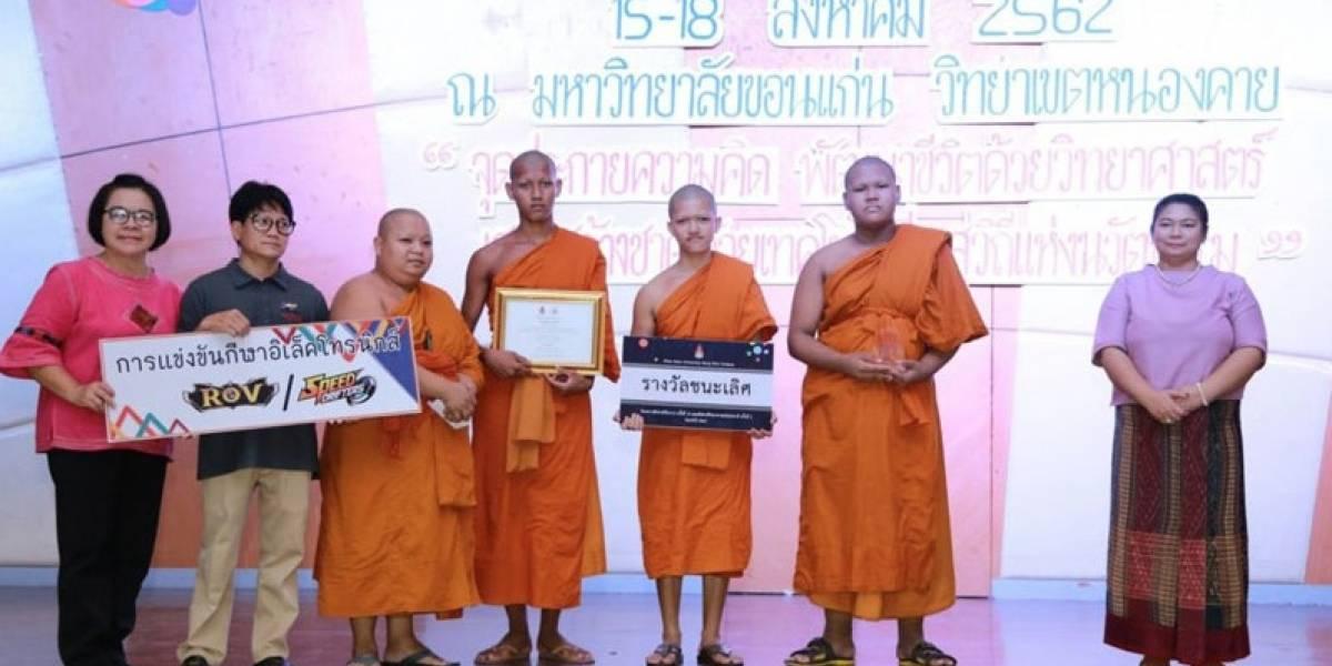Un equipo de monjes budistas ganan un torneo de Esports