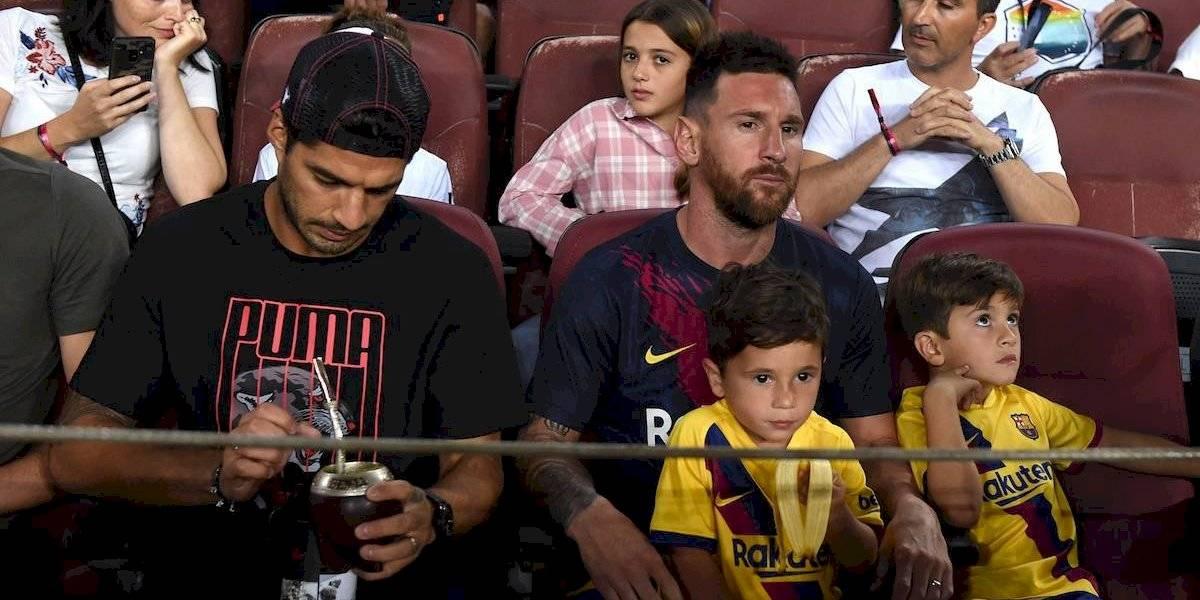 VIDEO: Mateo Messi festejó ¡un gol del Barcelona que no fue!