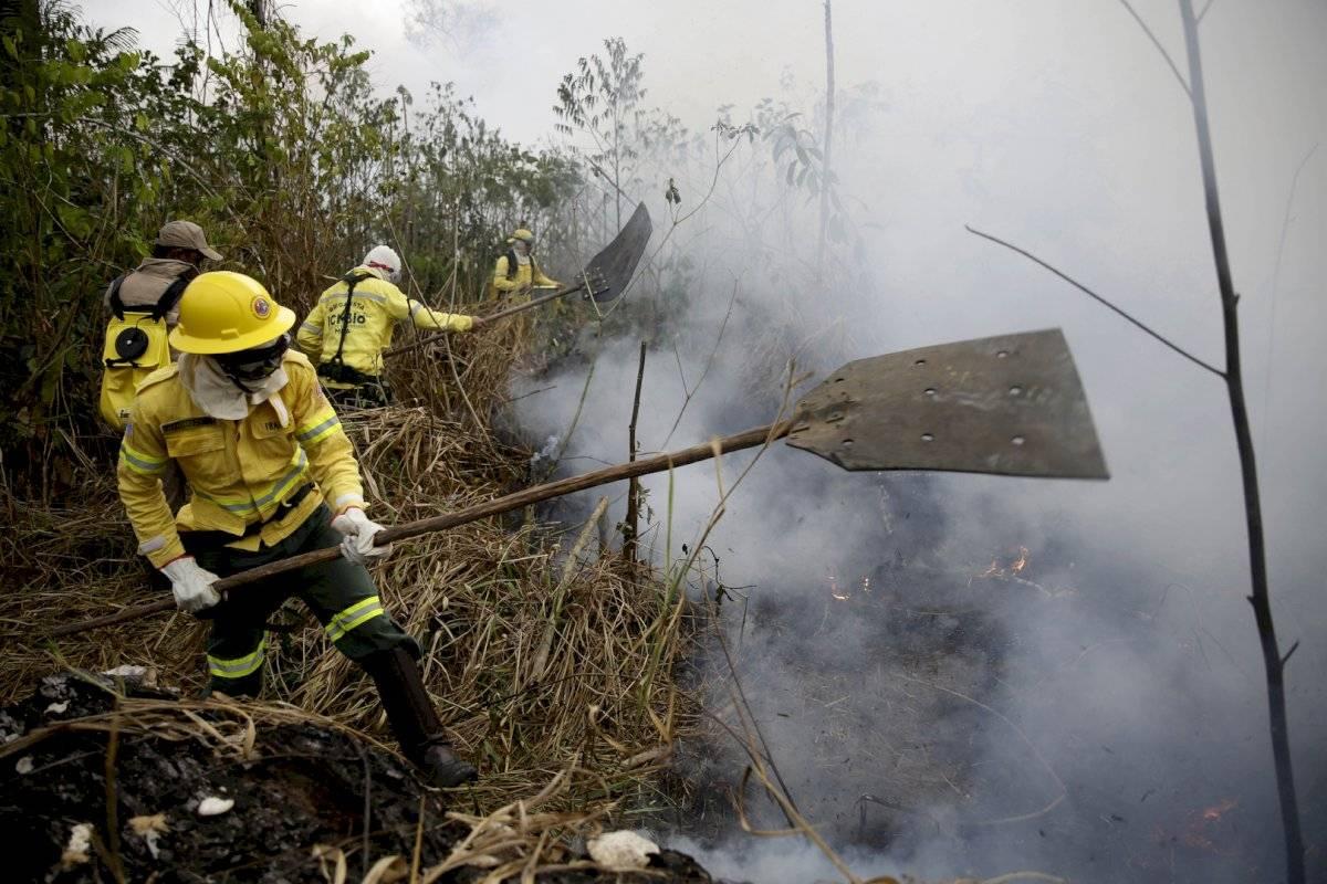 Incendios en la Amazonas, en Brasil Foto: AP