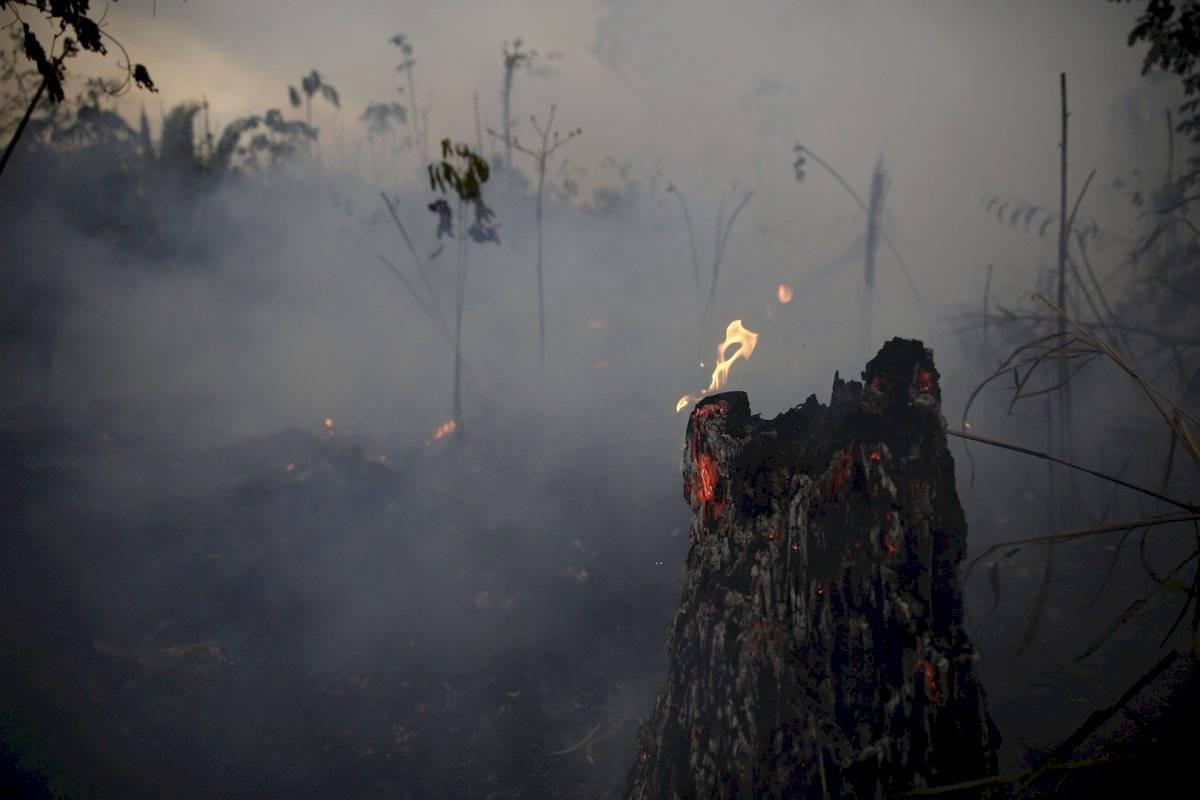 Incendios en el Amazonas no dan tregua Foto: AP