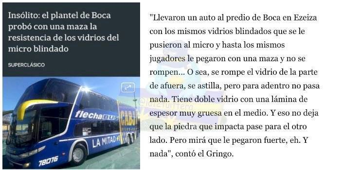 Boca Juniors bus blindado al superclásico ante River Plate