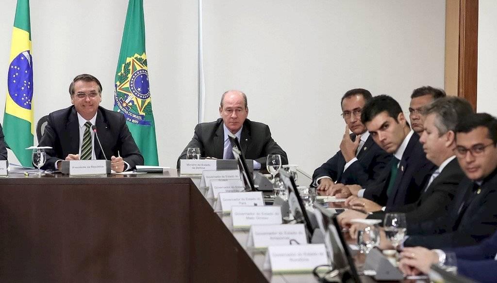 Reunión de Jair Bolsonaro con gobernadores de Brasil