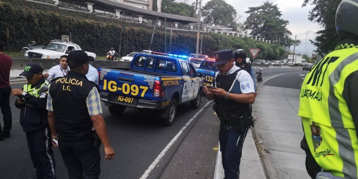 Intento de robo de vehículo deja dos personas heridas en ruta a El Salvador