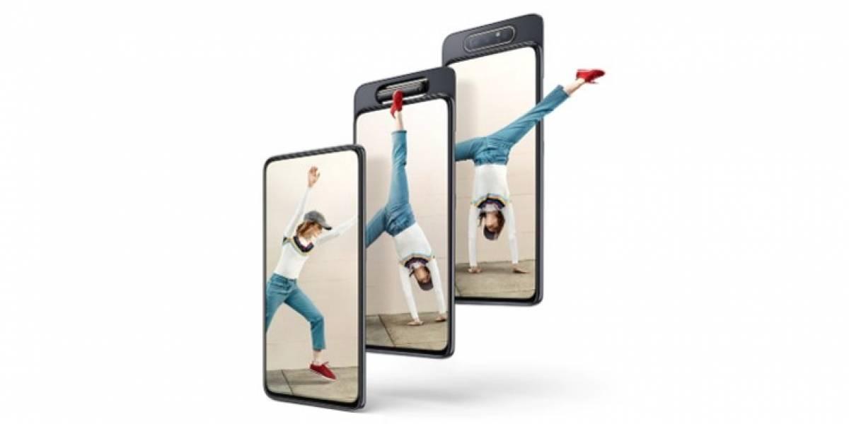 Samsung presenta su primer módulo de cámara rotativa con el Galaxy A80