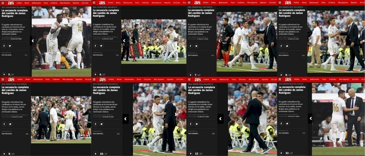 Secuencia James y Zidane en Real Madrid VS Real Valladolid