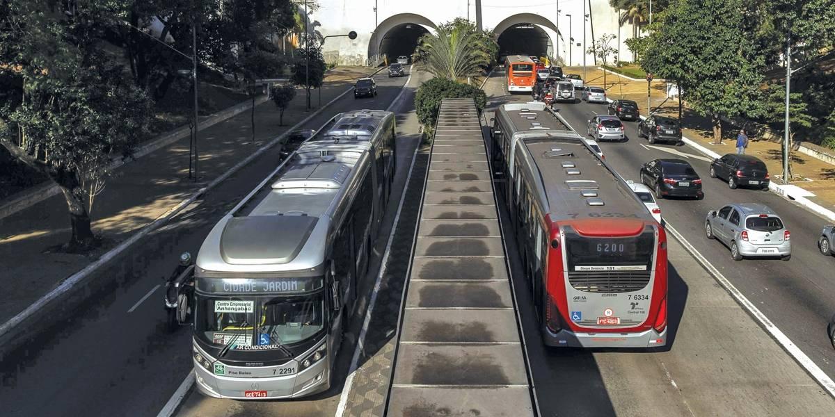 São Paulo vai implantar 38 km novos de faixas de ônibus; veja vias sugeridas