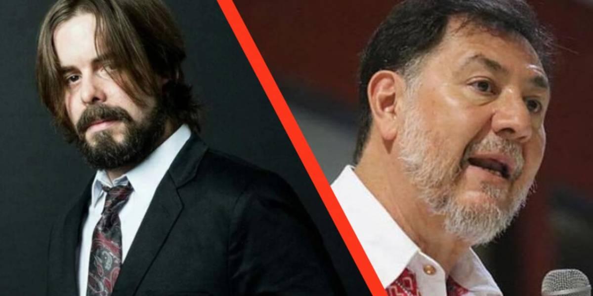 México: El Youtuber Dross y el diputado Fernández Noroña se pelean en Twitter