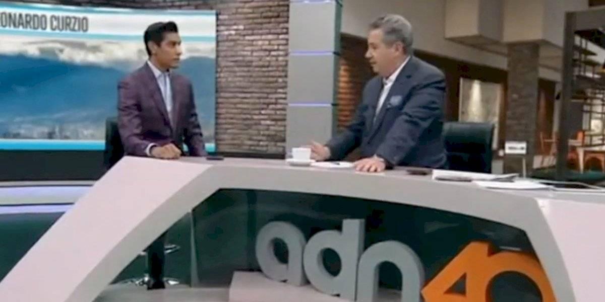 Así luce Juan Manuel Jiménez de ADN40 tras golpe en marcha