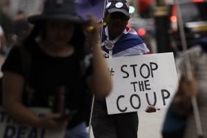 Manifestaciones en Reino Unido contra el cierre del Parlamento