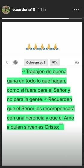 Mensaje Edwin Cardona selección Colombia