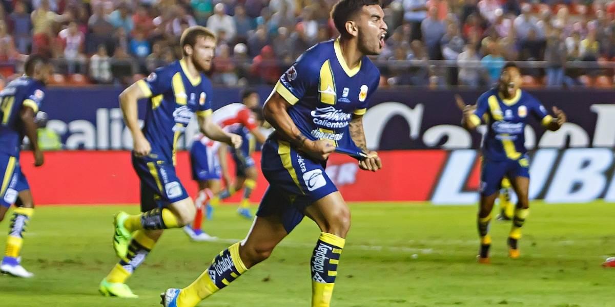 Sebastián Vegas anotó y salvó el empate en el debut de Pablo Guede al mando del Morelia