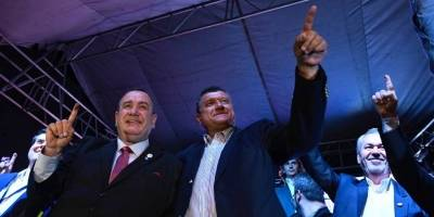 Alejandro Giammattei y Guillermo Castillo