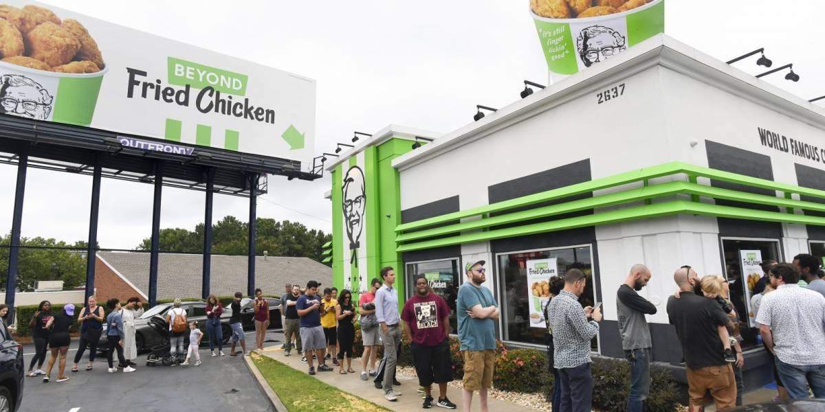 El pollo falso de KFC se agotó en menos de cinco horas