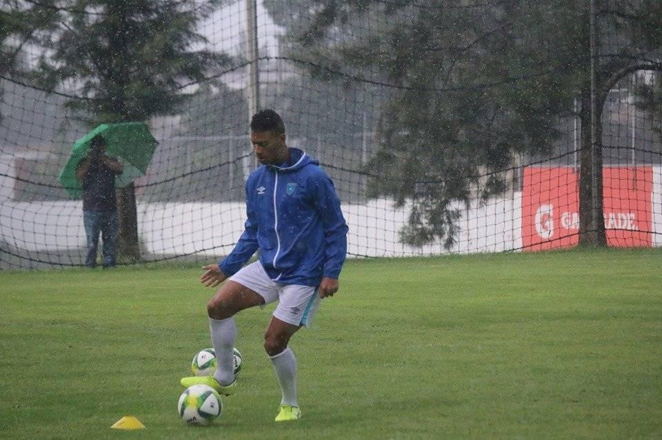 Marco Domínguez, en entreno con la Selección
